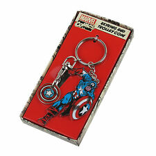 CAPTAIN AMERICA TROLLEY TOKEN & METAL KEYRING MARVEL COMICS RETRO AVENGERS FILM