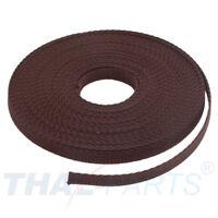 10m Gurtband 25mm Breit ca 1,6mm stark dunkelgrau Polypropylen Taschengurt