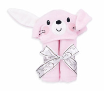 Baby Hooded Bath Towel Pink Bunny Baby Girl NWT Quiltex 31 x 23