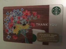 THANK YOU BOUQUET OF FLOWERS STARBUCKS Gift Card From 2014 Holiday Set