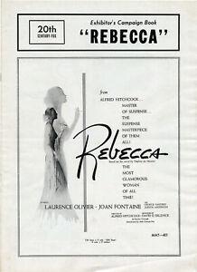 REBECCA • 1956 Rerelease • Olivier, Fontaine • COMPLETE • Uncut