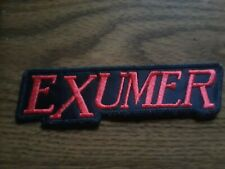 EXUMER,SEW ON RED EMBROIDERED PATCH