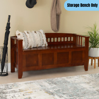 Traditional Storage Bench Lift-Top Entryway Foyer Seat Large Compartment Brown