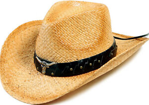 SET OF 3 - New Fashion comfortable Cowgirl Cowboy Western Style Straw Hat