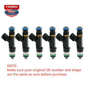 6x Fuel Injector For Bosch Jeep Dodge Wrangler Chrysler 3.3L 3.8L 0280158119