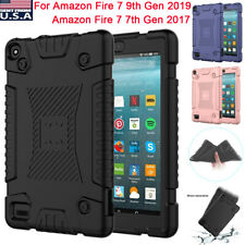 For Amazon Fire 7 9th Gen 2019 / 7 7th Gen 2017 Rugged Soft Silicone Case Cover