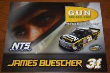 2015 James Buescher Gun Broker Chevy Silverado NASCAR CWTS postcard