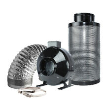 "6"" Inline Fan Carbon Air Filter Ducting Combo for Hydroponics Plant Growing"