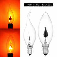 E14 E27 3W Ampoule LED Bougie Flamme Pour utilisation dans les lustres