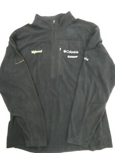Highroad Scott Columbia Brand Pull Over Fleece Black Jacket Men's Size L