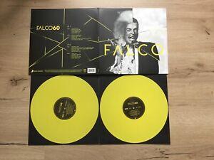 """FALCO FALCO 60 DOPPELALBUM 2X12 """" LP GELBE DOPPEL VINYL SCHALLPLATTEN+KLAPPCOVER"""
