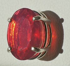 1.54ct Red ETHIOPIAN WELO OPAL .925 Sterling Silver 12x10mm Oval Men's Tie Tack