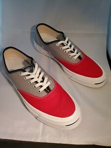 Converse Jack Purcell Signature Ox Low Top Red/Grey/White Mens Sz 9/Women's 10.5