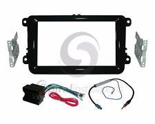Radio Dash Kit Combo Standard 2DIN PIANO BLACK + Wire Harness + Antenna V26