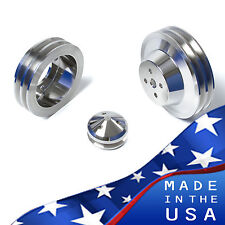 Ford Pulleys 289 302 351W V-Belt Kit 2V 4 Bolt SBF Billet Aluminum Underdrive 2V