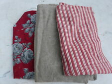 3 Antique French fabrics cotton and linen