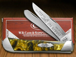 Case xx Trapper Knife Slant Series 24K Corelon 1/2500 Pocket S925424K