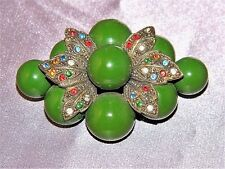 ~ BAUBLES RHINESTONE BROOCH VINTAGE Chunky Cluster Wow! ~