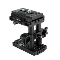 NICEYRIG DSLR Camera 15mm Rail Support System with Tripod Baseplate (Manfrotto)