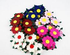 50 MIX COLOR DAISY FLOWERS MULBERRY PAPER SCRAPBOOK DIY CRAFT WEDDING CARD 2.5cm