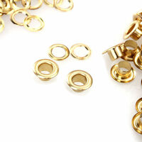 4mm Eyelets Grommet Washers Brass Rust Proof Leather Fabric Cloth Repair 100pcs