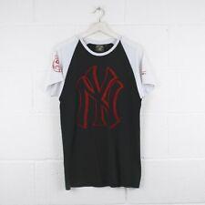 Vintage Majestic New York Yankees Cuello Redondo Negro T-Shirt Hombre Talla Mediana