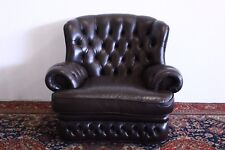 Poltrona chesterfield chester bergere MONK inglese pelle marrone original