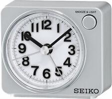 Seiko QHE100 Wecker Quarz Analog LED-Licht bei Alarm Schlummer-Funktion 2 Farben