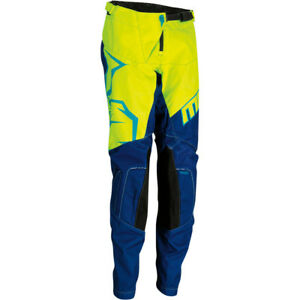 Moose Racing Youth Qualifier Motocross MX Off Road Youth Kids Pants Blue Yellow