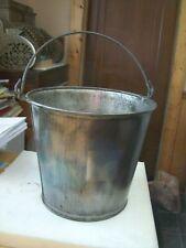 Vintage Milk Pail Bucket 12 14 Diam 11 Tall