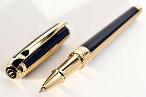 S.T.Dupont Line D Medium Rollerball Pen - WINDSOR BLUE - GOLD