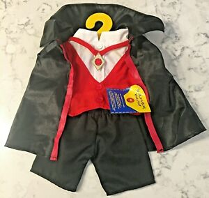 NWT RARE BUILD A BEAR WORKSHOP BABW * VAMPIRE DRACULA COSTUME *