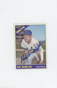 Roy McMillan  New York Mets signed 1966 Topps card JSA