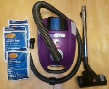 Bissell Zing Lightweight Bagged Canister Vacuum Cleaner, 2154A, Purple w/ bags