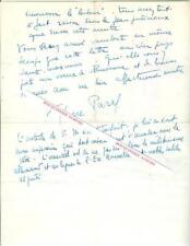 Lettre autographe signée de Pierre PARAF, Journaliste, homme de radio, romancier