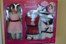 American Girl Samantha Parkington 18″ Doll Book Bonus Dress Coat Outfit Costco
