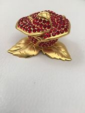 SALE  ESTEE LAUDER SOLID PERFUME COMPACT SPARKLING RED ROSE RARE