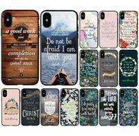 Jesus Christ Christian Bible verse Philippians soft case cover for iphone apple