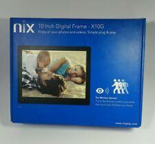 Nix 10 Inch Digital Photo Frame X10G HuMotion Sensor Digital Picture Frame NIB