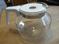 Mr. Coffee carafe, replacement pot, white lid, flowers, 8 cup, v good condition