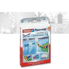 Tesa PowerStrips Deco 16er Pack, transparent