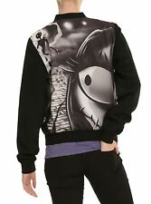 Women's Disney The Nightmare Before Christmas Love Story Bomber Jacket Large NWT