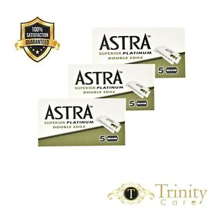 15 Astra Green Superior Platinum | Double Edge Razor Blades | Premium Safety DE