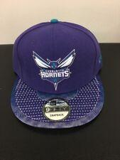 New Era 100%authentic Charlotte Hornets Prototype Sample Snapback Hat purple