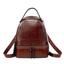 100% Genuine Leather Women's Backpack Outdoor Travel Rucksack College School Bag