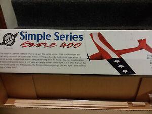 """ACE R/C """"Simple 400"""" R/C Vintage Model Kit Complete NIB"""