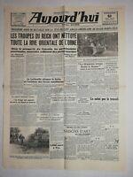 N1184 La Une Du Journal Aujourd'hui 9 juin 1944 troupes Reich nettoyé