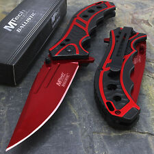 "MTECH USA 8.25"" RED SPRING ASSISTED TACTICAL FOLDING POCKET KNIFE Assist Open"