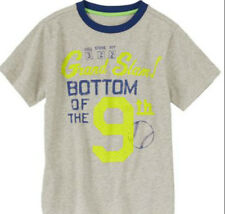 Gymboree BASEBALL grand slam bottom of the 9th short sleeve top tee size 5 NWT