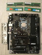 CPU Intel i7-7700 + MSI H170A PC Mate Motherboard + 32 GB DDR4  Arbeitsspeicher